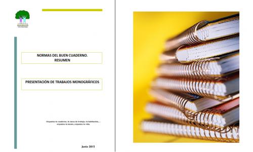 Normas del buen cuaderno. Presentación de trabajos monográficos.